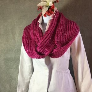 Pink Claire's infinity scarf